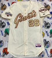 Authentic Majestic San Francisco Giants Buster Posey MLB Jersey SZ 44 Cool Base