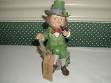 "Jim Shore Irish Figurine-5"" Pint Size-2019-Leprechaun- 4;Luck Is What You Make It"""