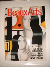 Beaux Arts Magazine N°93 J. P. Bertrand rembrandt Pop Art Années 20