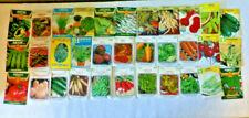 33 Different Vintage Vegetable Seed Packets Unopened NOS Great Graphics