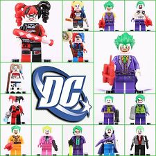 15Pcs set Dc comics Suicide Squad JOKER HARLRY QUINN Minifigures Fit with Lego
