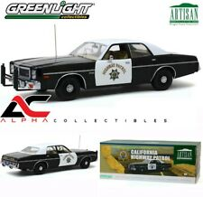 GREENLIGHT 19075 1:18 1975 DODGE CORONET CALIFORNIA HIGHWAY PATROL CAR