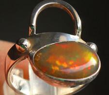 Echter Dark Welo Opal 2.5 Karat 950er Silberring Größe 18,4 mm Unikat