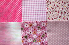 Patchwork No 11 - 24 x 4 inch Charm Squares - Pink Shades - Sewing & Quilting