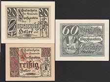 Dorfgastein (Sbg) -Gemeinde- 20 H, 30 H und 60 Heller (JP 130)