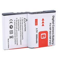 2Pcs NP-BG1 Battery For SONY Cyber-shot DSC-H3 DSC-H7 DSC-H9 DSC-H10 DSC-H20