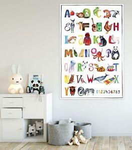 ABC Poster Kinderzimmer Alphabet Plakat Premium Design Tiere 61 x 91,5 cm Kinder