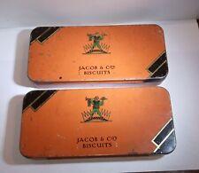 Joblot 2 x Vintage Jacob's Cream Crackers Free-sample Biscuits Tins Cartons