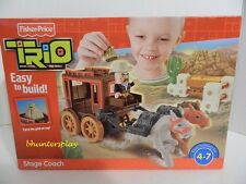 Fisher Price TRIO WESTERN STAGE COACH Building Set NEW