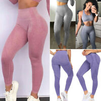 Women Slim Fit Leggings Gym Fitness Sports Pants Yoga Workout High Waist Trouser