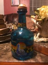 Cabo Wabo Tequila Bottle - Hand Blown Blue bottle, empty, collectors item