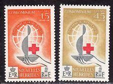 $Fr. New Hebrides Sc#110-111 M/NH, Cv. $31