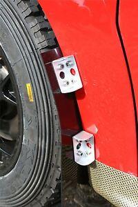 Grayston Universal Lightweight Aluminium Alloy Rally Mud Flap Mounting Brackets