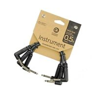 "Planet Waves Classic Series 6"" 1/4"" Guitar Patch Cables 3 Pack 3 x 6 inch cable"