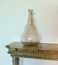 Grande bouteille, flacon, verre soufflé ancien, d'apothicaire, pharmacie, 45 cm