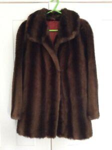Faux fur vintage ladies jacket size M