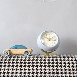 Modern Table Alarm Clock Bedside Analog Alarm Clock with Night Lights