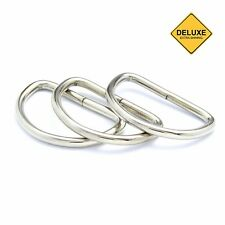 50pcs Heavy Duty Non Welded D Rings Buckles for Webbing Hand Bags Leather Craft