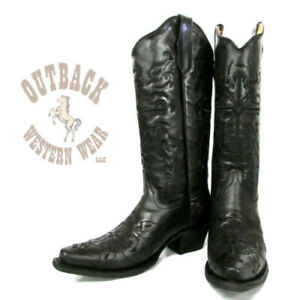 Circle G by Corral Women's Black Embroidered Cross Snip Toe Boots L5060