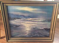 Vintage Maurice Meyer Evening Tide Winde fine print nicely framed Seascape Ocean