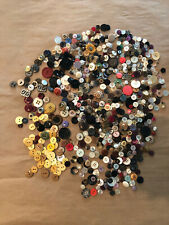 Lot of 1 lb Vintage Sewing Buttons - Mixed Metal Pearl and Plastic