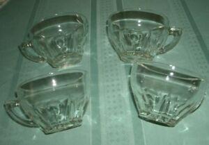 VINTAGE PRINCESS HOUSE  REGENCY' SET OF  FOUR TEA CUPS' FREE SHIPPING
