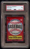 Rare 1976 O-Pee-Chee OPC Baseball Unopened Wax Pack Graded PSA 7 NM