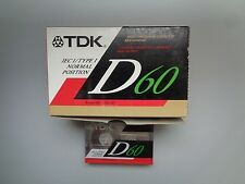 10 Audio Cassette Tape TDK D 60 From 1991 &