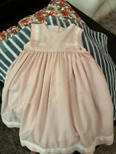 Will'beth 5 Smocked Brown Pink Dress - EUC