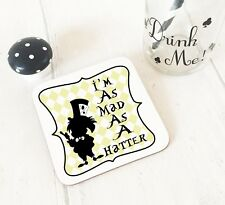 Alice in Wonderland I'm As Mad As A Hatter Cup Coaster Dining Table Wooden Mat
