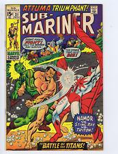 Sub-Mariner #31 Marvel 1970