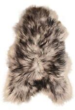 Eco Island Lambskin Grey Black Colored 110 X 60 CM Long Wool Vest
