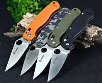 Ganzo G 729 Axis Lock Folding Knife Pocket Clip Camping Outdoor Stainless Steel