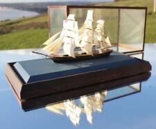 CUTTY SARK TEA CLIPPER SUPER RARE BASSETT LOWKE CASED WATERLINE MODEL SHIP