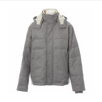 Loro Piana Men Hood CASHMERE Storm System Down Puffer Bomber Jacket Coat Size XL