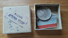 USSR Soviet Union labour veteran medal with a box