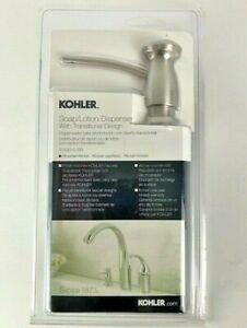 Kohler Soap/Lotion Dispenser with Transitional Design Brushed Nickel ~ New