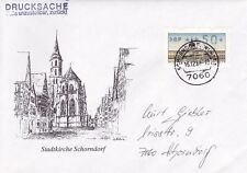 West Berlin 1988 Machine Label Cover Used Vgc