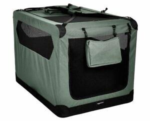 XXL Premium Folding Portable Soft Pet Crate - Grey