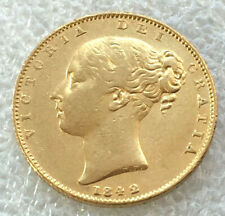 1842 wide date  closed 2  Victoria Gold  Full  Sovereign.@ agd11
