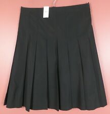 SK15089- NWT BANANA REPUBLIC Women's 100% Cotton Pleated Skirt Black 14 $98