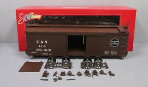 Bachmann 88695 Double-Sheathed Wood Boxcar w Murphy Roof (Metal Wheels) EX/Box