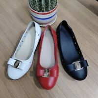 Womens Casual Outdoor Hollow Out Flats Bows Comfort Round Toe Non-slip Peas Shoe