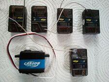 Carson  Reflex Wheel or Stick  Pro  FHSS  2.4 GHz RC Receiver - lot of 5 +servo