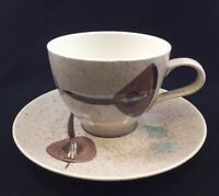 Red Wing LUTE SONG Cup and Saucer U.S.A. Hand Painted 114 true China - Gorgeous!