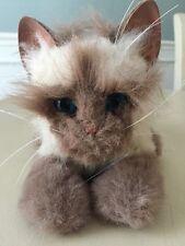 "Furreal Friends Burmese Kitten Interactive Brown Meows Stuffed Animal 11"" 77115"