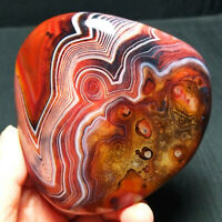TOP 312.5G Natural Polished Banded Agate Crystal Madagascar Healing A352