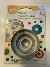 Wilton Fondant Round Cut-Outs - 2 sets of 3 - brand new sealed