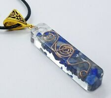 Orgone Necklace Quartz Lapis Lazuli Pendant Healing Stone Chakra Reiki Crystals
