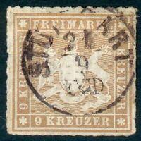 Württemberg, Mi.-Nr.33ao, Michel 100€, feinst